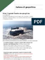 Limes - rivista italiana di geopolitica » Prism, il grande fratello che spia gli Usa - Versione stampabile