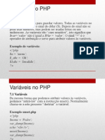 7 - Compreender as Variaveis No PHP