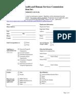 Texas Nonprofit Council Application 7 26 13