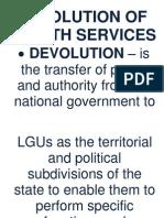 CHN Report (Devolution of Health Services)