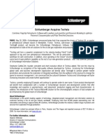 Schlumberger Acquires Techsia Press Release May 2009