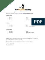 Cotización del estudio MAD HOUSE INDUSTRY
