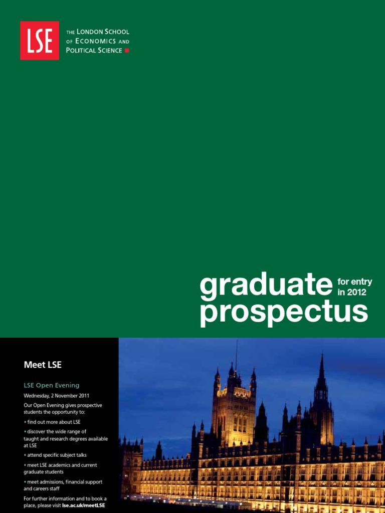 LSE Graduate Prospectus   London School Of Economics   Thesis