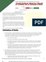 Debt Validation Defined
