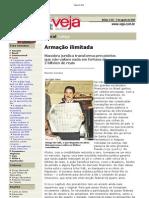 Veja on-line_9_8_2000_Armação ilimitada