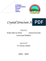 Crystal Structure Analysis