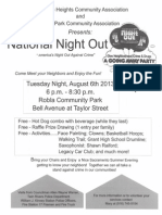Del Paso Heights & Robla Park Community Associations National Night Out