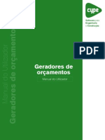 Geradores de Orcamentos Manual Do Utilizador