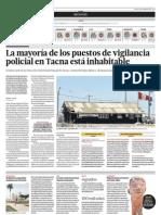 La mayoría de los puestos de vigilancia policial en Tacna está inhabitable.