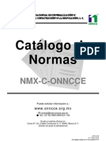 Catalogo de Normas 2012 Onncce