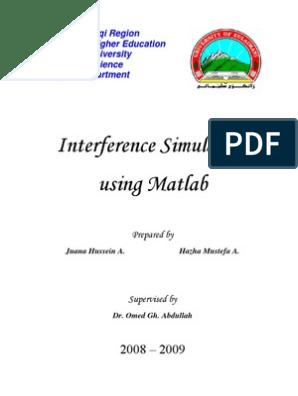 Interference Simulation Using MATLAB   Wavelength   Diffraction