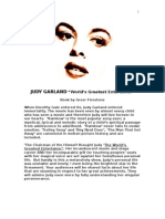 "Original musical JUDY GARLAND ""World's Greatest Entertainer"" by Greer Firestone"