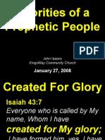 01-27-2008 priorities of a prophetic people