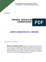 Prova Administrativo INSS 2002