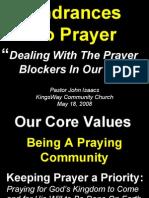 05-18-2008 hindrances to prayer