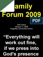 01-11-2009 family forum