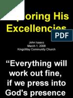 03-01-2009 exploring his excellencies - his goodness