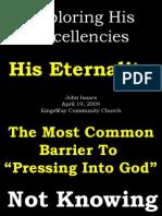 04-19-2009 exploring his excellencies - his eternality