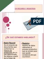 Batch Records y Registros