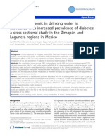 Del Razo; Exposure to Arsenic in Drinking Water is Associated With Increased Prevalence of Diabetes a Cross-sectional Study in the Zimapan and Lagunera Regions in Mexico