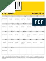 Asylum Calendar