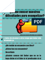 Cómo vencer nuestras dificultades para evangelizar