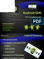 Android SDK and PhoneGap