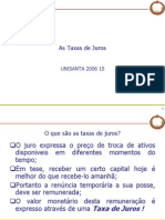 Mercado Financeiro 2 R1 - As Taxas de Juros