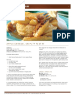 Apple Caramel on Puff Pastry