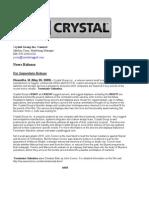 Crystal Group Inc - Terminator Salvation