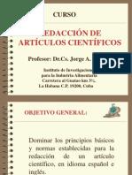 REDACCIÓN DE ARTÍCULOS CIENTIFICOS - JORGE A PINO