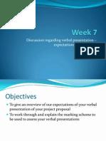 Week 7.Verbal Presentation