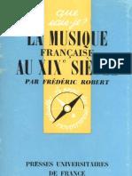 La Musique Francaise Au XIXe Siecle Frederic Robert