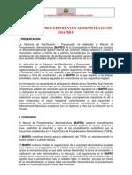 Plan 10053 Manuel de Procedimientos Administrativos 2012
