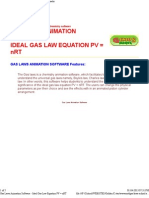 Gas Laws Animation Software - Ideal Gas Law Equation 2