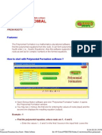 Polynomial Formation Form Roots - Maths 2