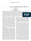Marketing Strategies of Selling Electronic Books in China
