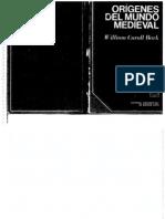 William Caroll Bark - Origenes del mundo medieval - 1972 - 137 pág