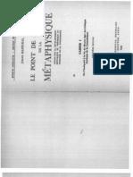 Joseph Marechal - Le Point de Depart de La Metaphysique - Cahier 1