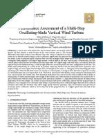 Performance Assessment of a Multi-Step Oscillating-blade Vertical Wind Turbine