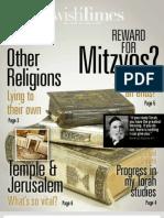 Jewish Times - VOL. XII NO. 19 — AUG. 2, 2013