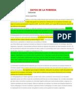 Datos de La Pobreza en El Peru
