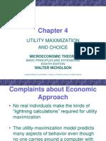 Utility Maximization and Choice