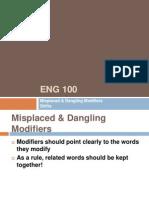 Eng 101 MisplacedDanglingModifiers