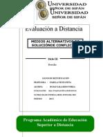 PRIMERA Evaluación a Distancia de MARCs