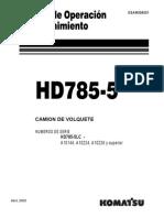 Manual de operación y mantención en Español  HD785-5