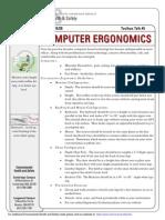 Toolbox Talk Ergonomics