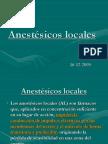 Anestésicos locales LOCALES