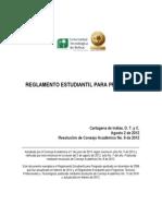 RE-C ACA-2012 08 - Reglamento Estudiantil Para Pregrado