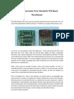 FR-4 PCB Laminate From Wonderful PCB Board Manufatuer
